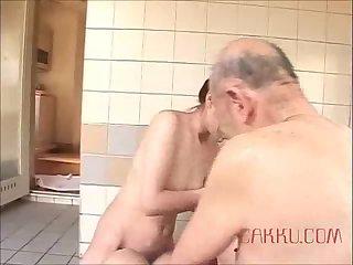 Maki Tomoda pleases an old man