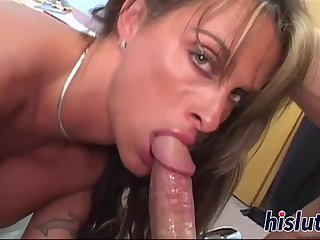Stunning Holly has her wet pussy drilled