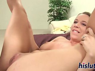 Raunchy hottie has her tight pussy pummeled