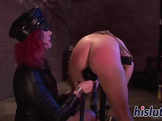 Lusty bimbo lets her domina punish her