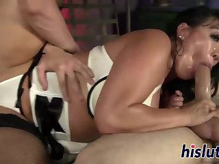 Hot threesome action with busty Ava Devine