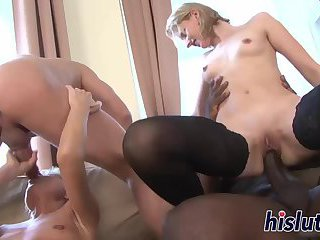 Hardcore sex party starring luscious bitches