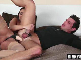Hot pornstar strapon with cumshot