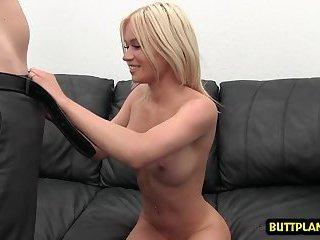 Big boobs pornstar casting and creampie