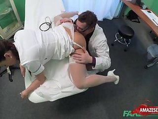 Sexy nurse hardcore with creampie