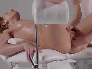 Female gets a beautiful orgasm massage