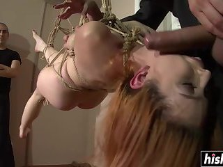 Tied up Amarna Miller gets dirty