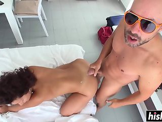 Threesome drilling with smoking hot Maruja