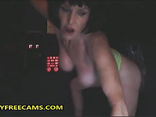 Mature Sucks From Glory Hole For Pussy Creampie