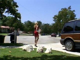 Sexy tall blonde Monica Sweetheart interracial gangbang