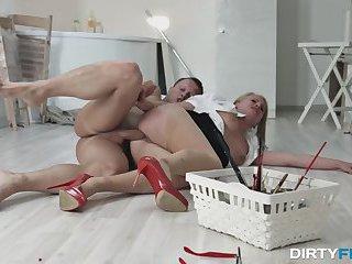 Dirty Flix - Office slut takes a rough fuck