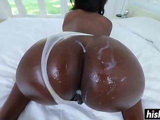 Ebony Skyler Nicole rides a cock
