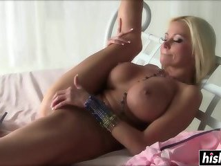Blonde beauties enjoy their sex toys