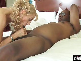 Blonde babe gets eaten and fucked hard