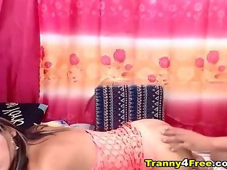 Couple Tranny Babe Hard Anal Fuck On Webcam