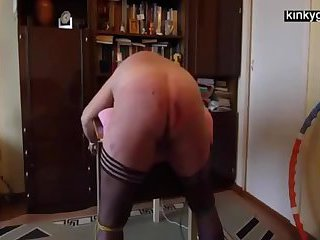 Big ass slut Sally whipped at home