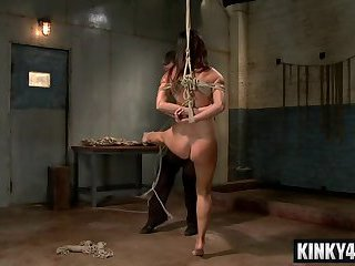 Hot milf bondage squirt with cumshot