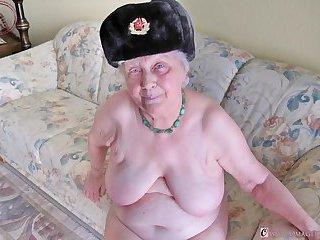 Amateur Granny Slideshow Photos Collection