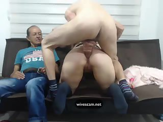 Man share his wife on cam Part.1