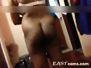 Indian wife gets naked on cam and licks fat cock of her hubby while filming