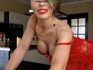 Hot milf tease masturbate anal plug smoke