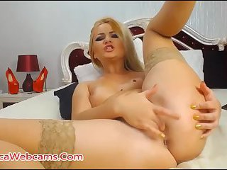Amazing Blonde And Her Dildo