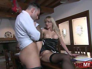 Hot secretary anal sex and cumshot