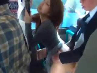 Thick Ass Japanese Girl Fucked on Bus