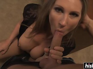 Amazing MILF gets boned in the office