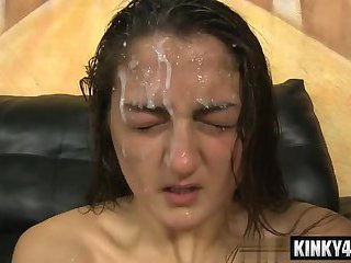 Hot pornstar domination with facial