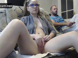 Wife caught on hidden cam