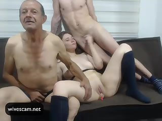 Man share his wife on cam Part.3