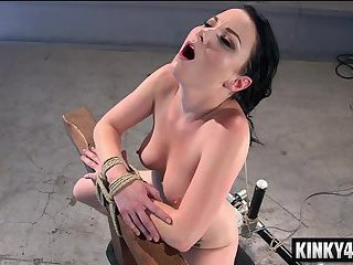 Hot pornstar bondage with cumshot