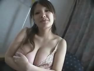 Pregnant Japanese girl with huge titties #1