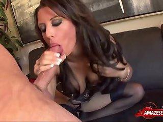 Hot pornstar threesome and creampie
