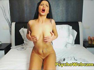 Beautiful Latina With Long Black Hair Tattoos Masturbation