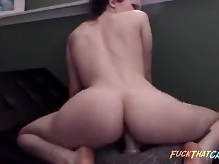 PAWG shaking big ass while riding dildo