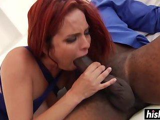 Sensational redhead wants his black dick