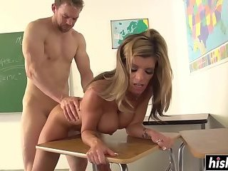 Kristal Summers gets plowed by her student