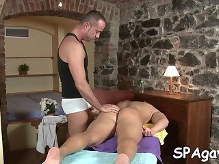 Stroking a lusty cock