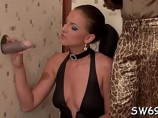 Naughty babe gets lots of slime