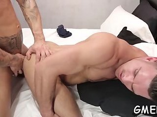Heavy blowjob before anal