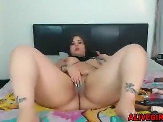 Insatiable BBW MonaLott19 with big butt fucks wet pussy
