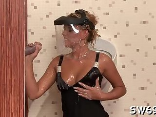 Girl's cunt filled with slime