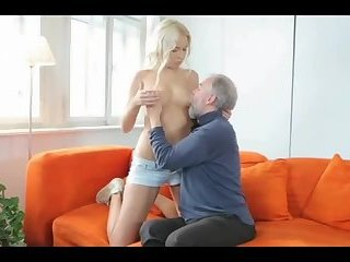 Cute Blonde with Old Man