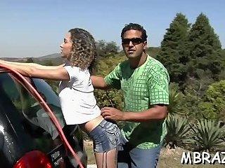 Non-stop fucking of Brazilian pussy