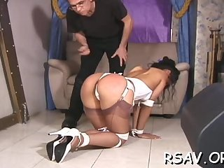Slut gets rough spanking