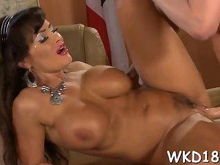 Busty slut taking cock