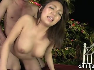 Slippery and wet Asian pussy toying