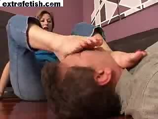 Mature Feet Sniff And Lick